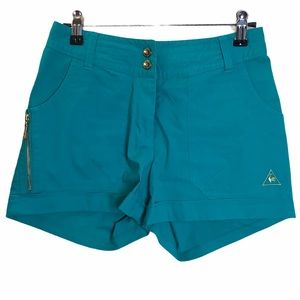 Le Coq Sportif France Teal Golf Shorts Size Small